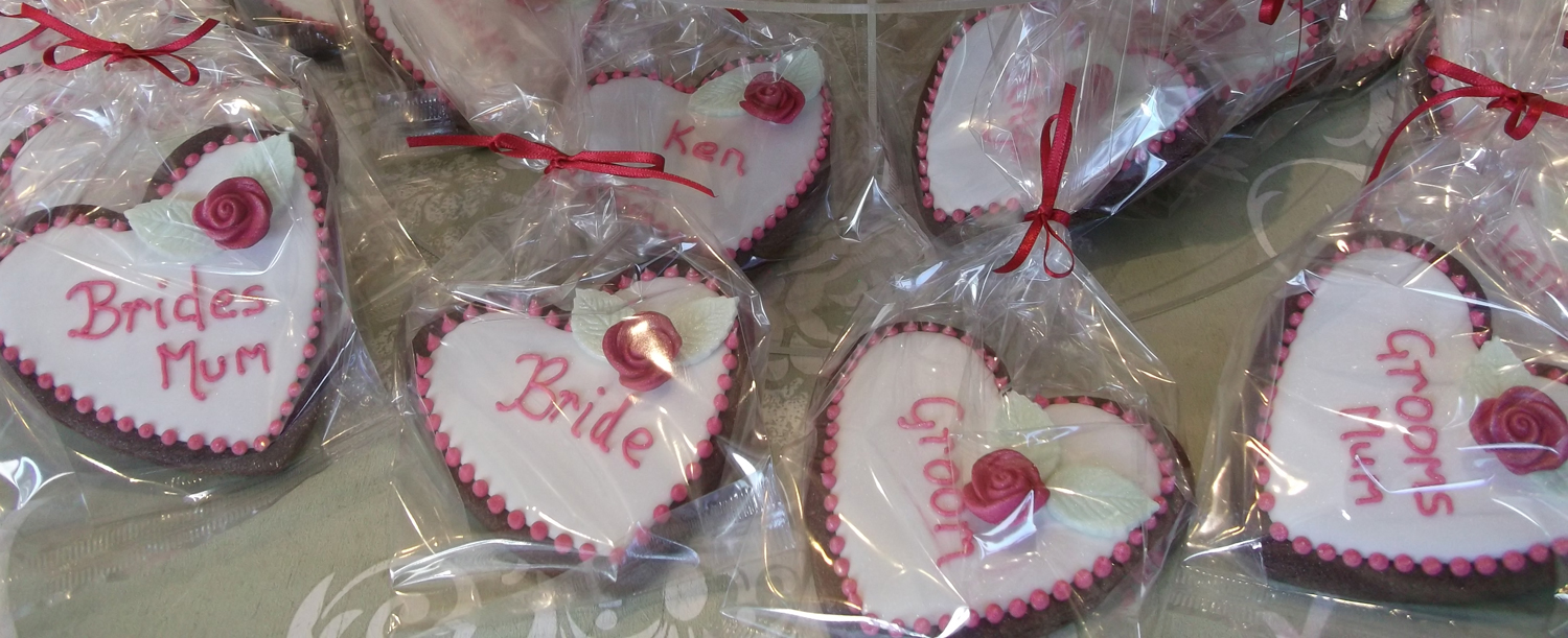 Mixed Heart Cookie Place Name/Favours
