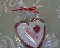 Bride Heart Cookie Place Name/Favours