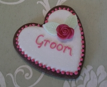 Groom Heart Cookie Place Name/Favour Unwrapped