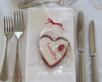 Heart Cookie Place Name/Favours