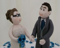 Blossom Bride & Groom topper